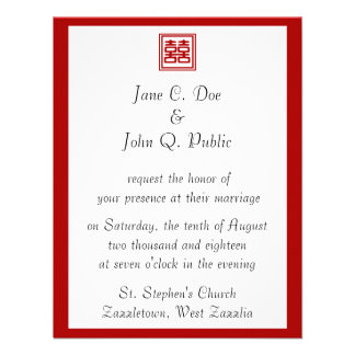 Felicidad doble • Cuadrado Invitaciones Personales