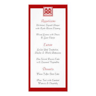 Felicidad doble • Cuadrado • Programa/menú Diseños De Tarjetas Publicitarias