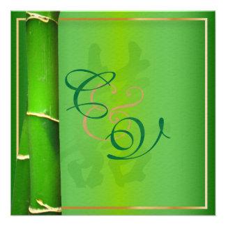 Felicidad doble de PixDezines+bambú Invitaciones Personalizada