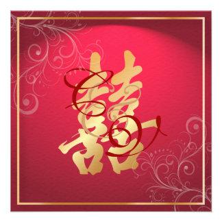 Felicidad doble de PixDezines, boda chino Comunicado Personal