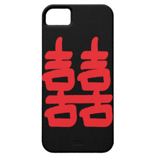 Felicidad doble en caja roja iPhone 5 Case-Mate carcasas