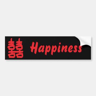 Felicidad doble en pegatina para el parachoques ro pegatina para auto