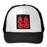 Felicidad doble en Red Hat Gorros