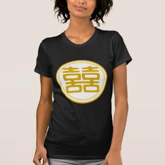 Felicidad doble • Redondo • Oro Camisetas