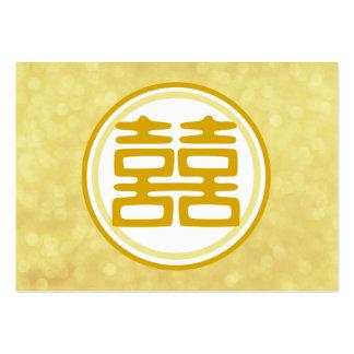 Felicidad doble • Redondo • Oro Tarjeta Personal