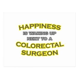 Felicidad El despertar Cirujano colorrectal Tarjetas Postales