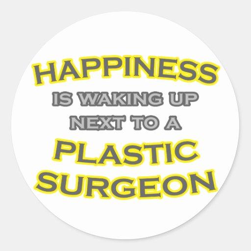 Felicidad. El despertar. Cirujano plástico Pegatina Redonda