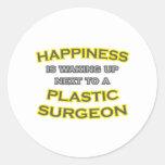Felicidad. El despertar. Cirujano plástico Pegatinas Redondas
