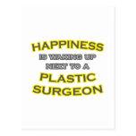 Felicidad. El despertar. Cirujano plástico Postal