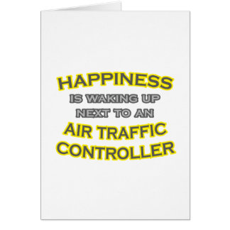 Felicidad. El despertar. Controlador aéreo Tarjeta De Felicitación