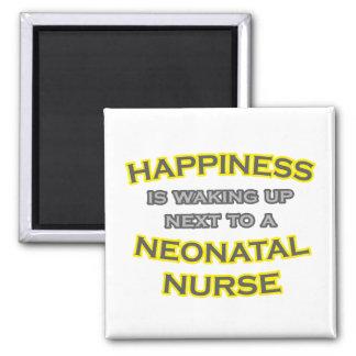 Felicidad. El despertar. Enfermera neonatal Imán Cuadrado