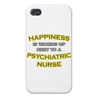 Felicidad. El despertar. Enfermera psiquiátrica iPhone 4/4S Fundas