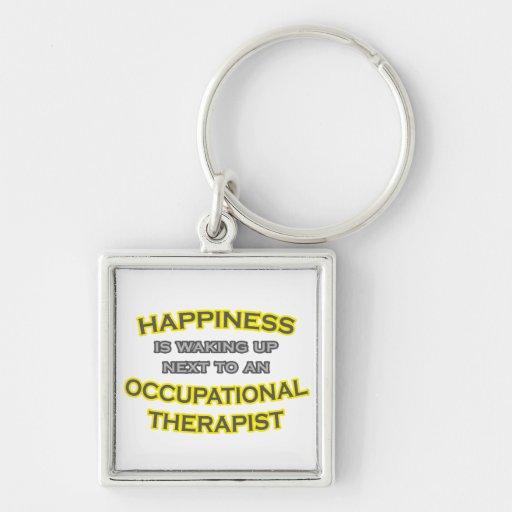 Felicidad. El despertar. Terapeuta profesional Llaveros