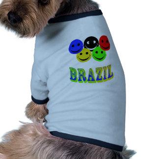 felicidad en el Brasil Ropa De Perros