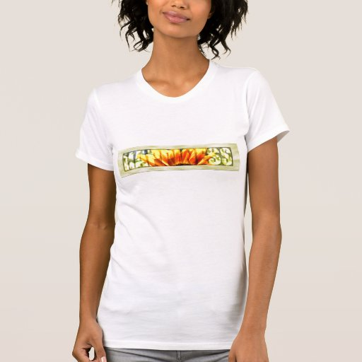 Felicidad enmarcada camisetas