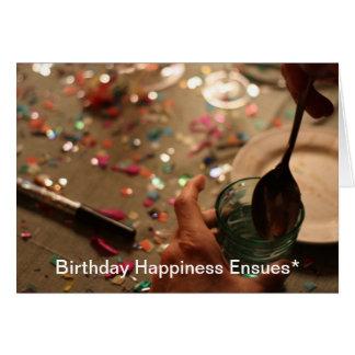 Felicidad Ensues* del cumpleaños Tarjeta De Felicitación