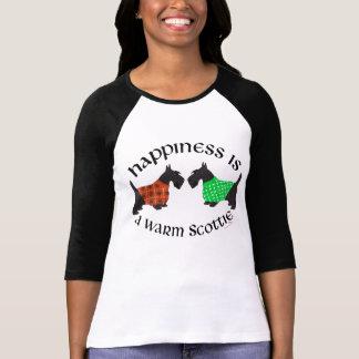 Felicidad escocesa negra de los terrieres camiseta