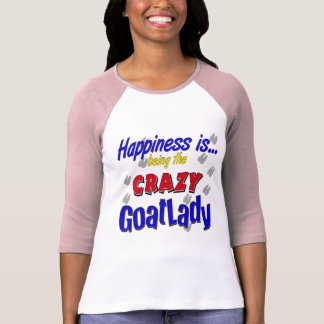 Felicidad Goatlady loco Playeras
