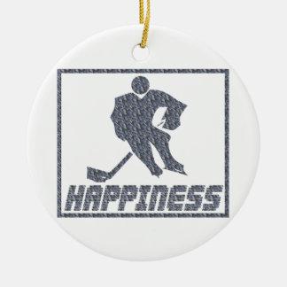 Felicidad: Hockey Ornamento De Navidad