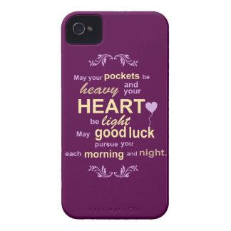 Felicidad irlandesa de la abundancia y bendición iPhone 4 Case-Mate fundas