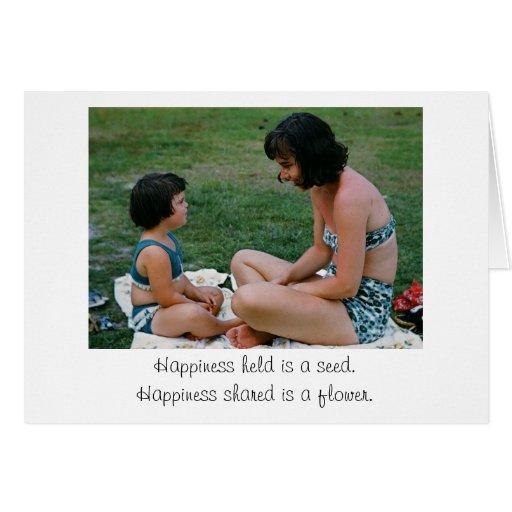 Felicidad llevada a cabo/felicidad compartida tarjeta de felicitación