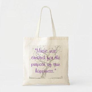 Felicidad musical bolsa tela barata