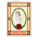 Felicidad - novia tarjeta de felicitación