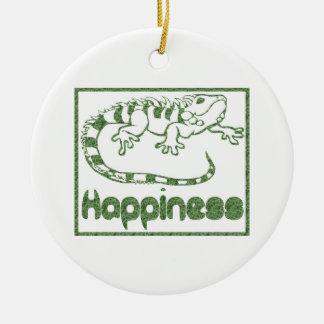 Felicidad: Ornamento de los lagartos Adorno Para Reyes