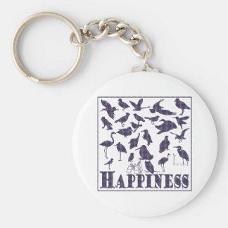 Felicidad: Pájaros Llavero Redondo Tipo Pin