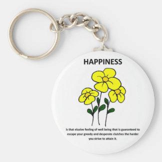 felicidad-ser-que-evasivo-sensación-de-bien-siendo llavero redondo tipo pin