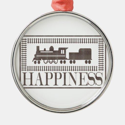 Felicidad: Trenes del modelo Ornamento Para Arbol De Navidad