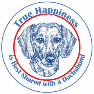 Felicidad verdadera con un Dachshund (Shorthair) Adorno Fotoescultura