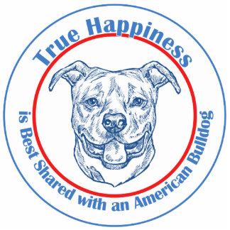 Felicidad verdadera con un dogo americano esculturas fotográficas