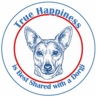 Felicidad verdadera con un Dorgi (shorthair) Escultura Fotográfica