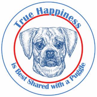 Felicidad verdadera con un Puggle Escultura Fotográfica
