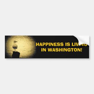 Felicidad viva del estado de Washington Pegatina Para Auto