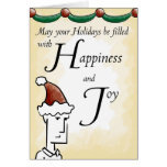 Felicidad y alegría tarjeta de felicitación