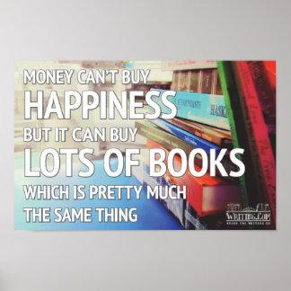 Felicidad y libros impresiones