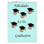 Felicidades en tu graduacion greeting card