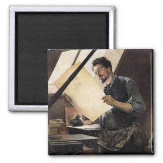 Felicien Rops  in his studio Magnets