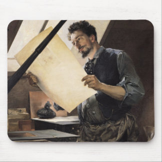 Felicien Rops  in his studio Mouse Pad
