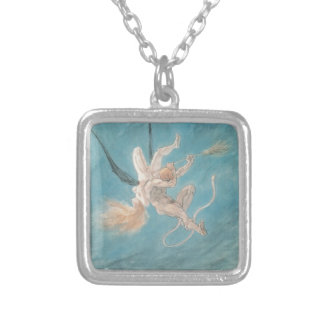 Felicien Rops- The Satanic. Removal Square Pendant Necklace