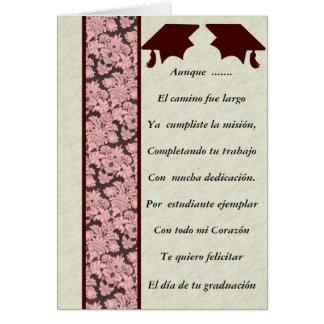 Felicitacion de Graduacion Tarjeta De Felicitación