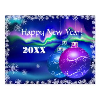 Felicitación de la Feliz Año Nuevo de la aurora bo Postal