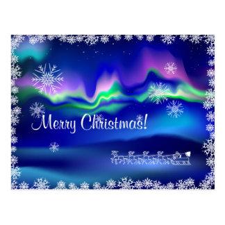 Felicitación de las Felices Navidad de la aurora b Tarjetas Postales