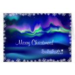 Felicitación del navidad de la aurora boreal