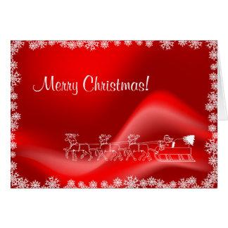Felicitación roja de las Felices Navidad
