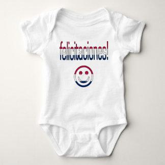 Felicitaciones! America Flag Colors Baby Bodysuit