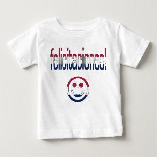 Felicitaciones! America Flag Colors Baby T-Shirt