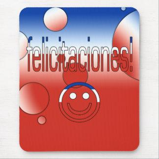 Felicitaciones! Chile Flag Colors Pop Art Mouse Pad